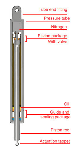 Elastic Locking Gas Spring