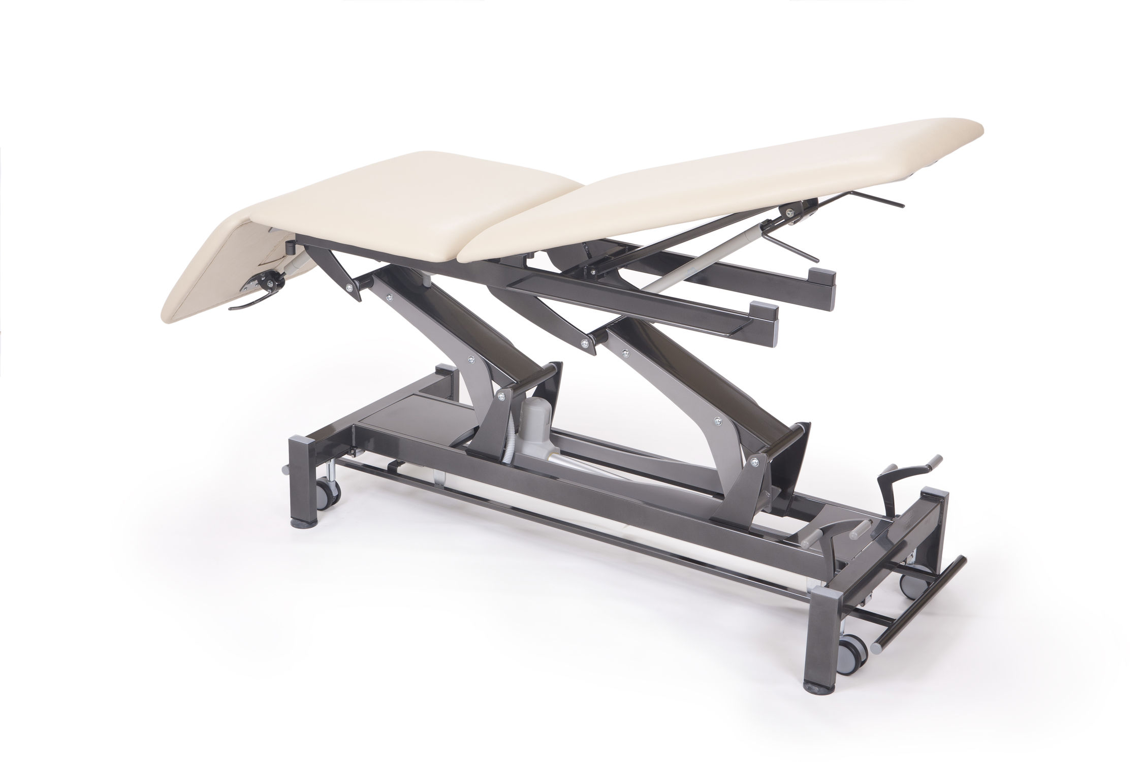 massage table with locking gas spring